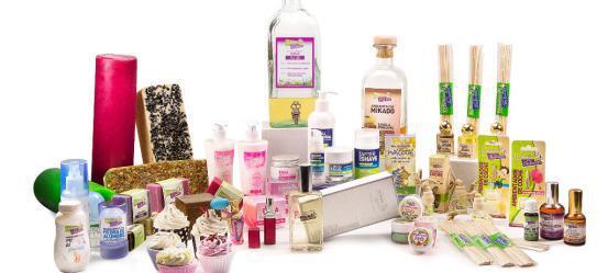 Fragrâncias e produtos naturais.
